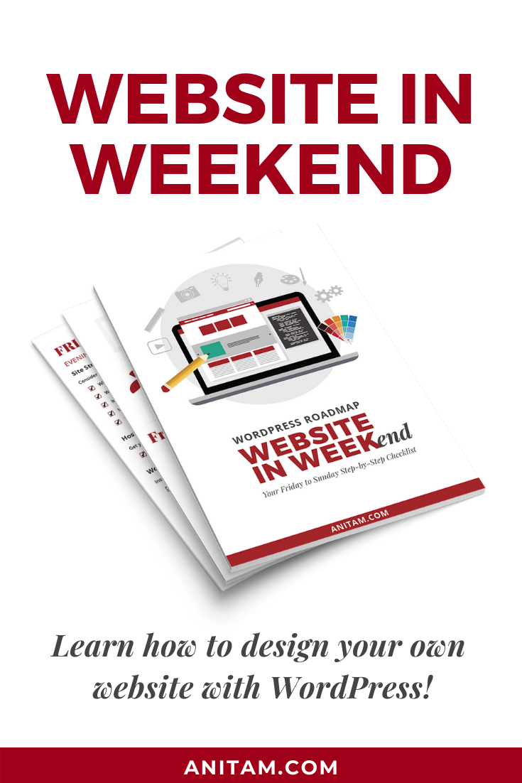 Website in Weekend - Free Step-by-Step Guide | AnitaM