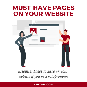 Top Web Pages Your Website Must Have if You're a Solopreneur