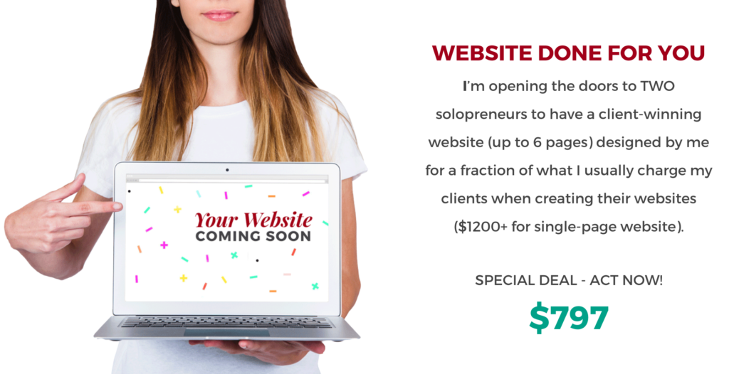 Website Done For You   AnitaM