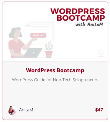 WordPRess Bootcamp   AnitaM