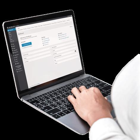 AnitaM | WordPress Course on Laptop